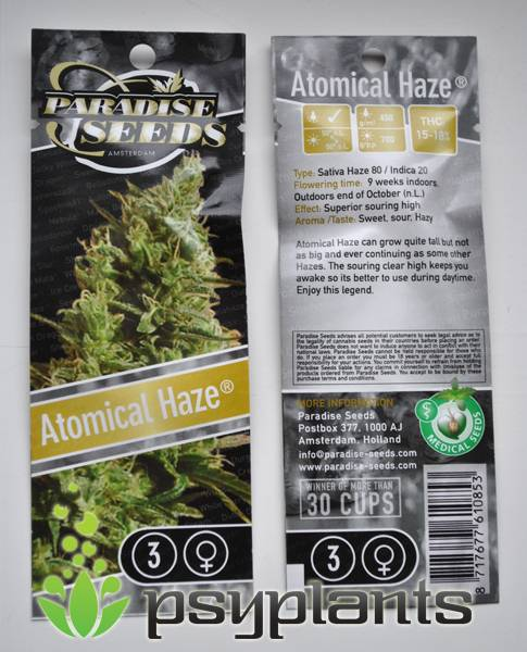 Atomical Haze (Paradise Seeds)  - 3 fem.