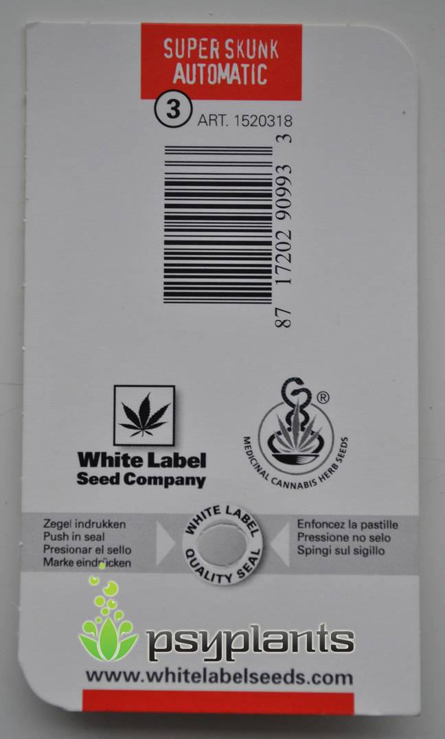 Super Skunk Automatic (White Label Seeds) - 3 fem.