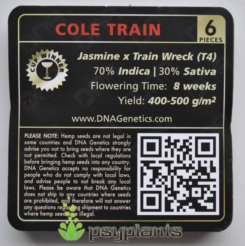 3 упаковки Cole Train (DNA Genetics) - 6 fem.